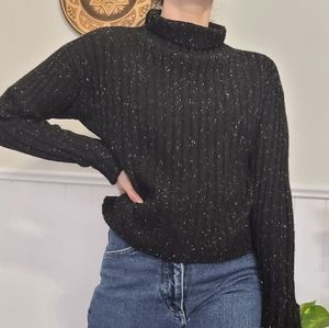 Frank & oak black knit turtle neck